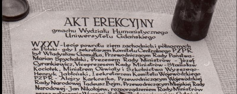 20.03.2020 - 50 lat Uniwersytetu Gdańskiego!