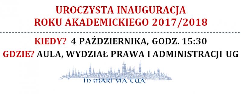 Uroczysta inauguracja