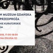 Wydarzenie w Domu Uphagena 19.04 - informacja graficzna tekstowa