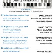 Plakat informacyjny - Gdańscy Pianiści miastu