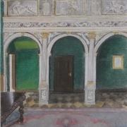 Nowosz-Arkuszewska Irena - <em>Wnętrze Ratusza </em>(pastel)