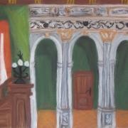 Pyzik Urszula - <em>Wnętrze Ratusza </em>(pastel)
