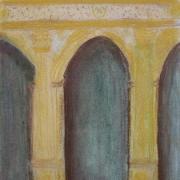 Stępień Elżbieta - <em>Wnętrze Ratusza </em>(pastel)