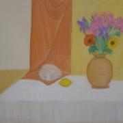Bako Wanda<br /> - <em> Martwa Natura</em> <br />(pastel)