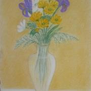 Bako Wanda<br /> - <em> Martwa Natura Kwiatowa</em> <br />(pastel)