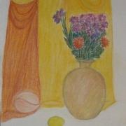 Gawieńczyk Ludmiła<br /> - <em> Martwa Natura Kwiatowa</em> <br />(pastel)