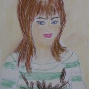 Klepacka Mirosława<br /> - <em> Portret</em> <br />(pastel)