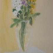 Kusińska Alicja<br /> - <em> Martwa Natura Kwiatowa</em> <br />(pastel)