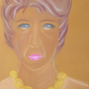 Kusińska Alicja<br /> - <em> Portret</em> <br />(pastel)