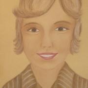 Kusińska Bronisława<br /> - <em> Portret</em> <br />(pastel)