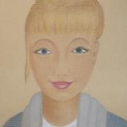Kusińska Bronisława <br /> - <em> Portret</em> <br />(pastel)