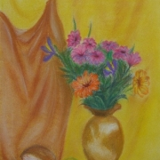 Matusiak Izabela<br /> - <em> Martwa Natura Kwiatowa</em> <br />(pastel)