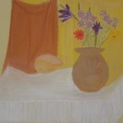 Rękawek Elżbieta<br /> - <em> Martwa Natura Kwiatowa</em> <br />(pastel)