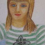 Skutnik Klara<br /> - <em> Portret</em> <br />(pastel)
