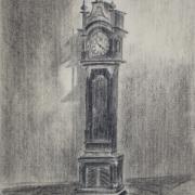 Zofia Gryń - Wnętrze muzeum (rysunek węglem)