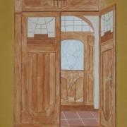 Waldemar Jeryś - Wnętrze muzeum (tempera)