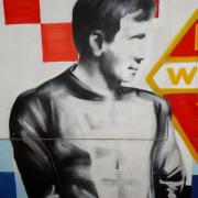 Zdjęcie: Zbigniew Podlecki, mural w gdańskim przejściu podziemnym. Knipawa, ul. Podwale Przedmiejskie. Żródło fot: wikipedia