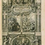 Tzw. frontyspis (strona poprzedzająca kartę tytułową) Biblii Gralathów