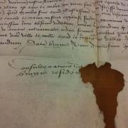 Detal- fragment listu konsula Hiszpanii do Gdańska