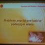 """Wykład Pani prof.. dr hab.med. Krystyny de Wanden - Gałuszko """"Problemy psychiczne ludzi w podeszłym wieku"""" - 08.04.2015"""