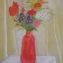 Elżbieta BIENIEK - Martwa natura kwiatowa (pastel)